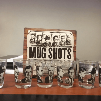 mug shot tequila shot glass