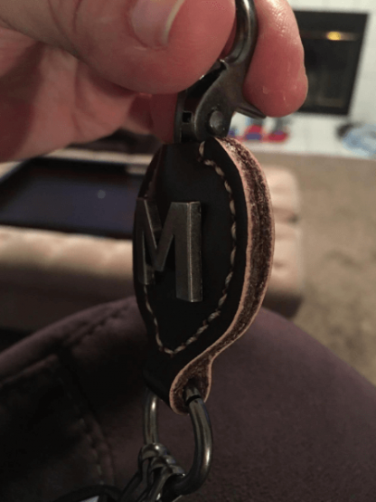strong leather keychain