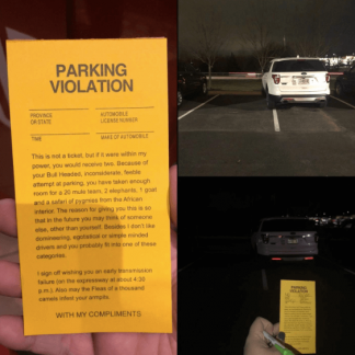 fake parking summons