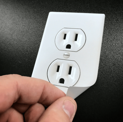 fake electric stickers
